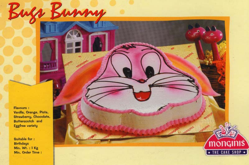 Send birthday monginis cakes to your dear near ones in kolkata kgbircake024 bugs bunny 15kg chocolate truffle sciox Image collections